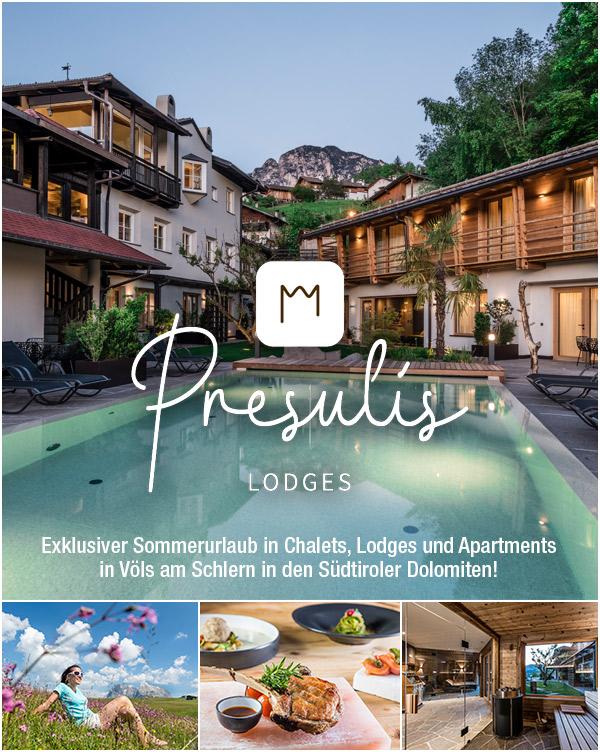 Preulis Lodges - Sommerurlaub im Chalet auf der Seiser Alm Südtirol